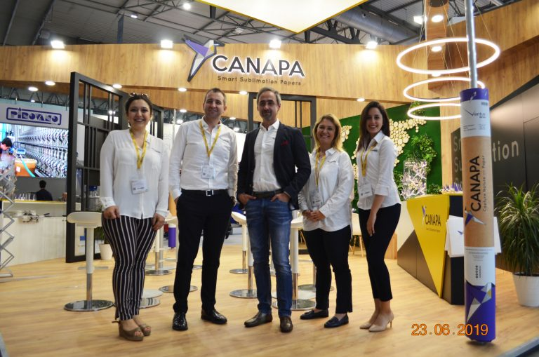 """CANAPA PAPER TECHNOLOGIES WAS IN THE SPOTLIGHT FOR THE TEXTILE MANUFACTURERS AT ITMA 2019, WITH """"SMART SUBLIMATION PAPERS"""""""